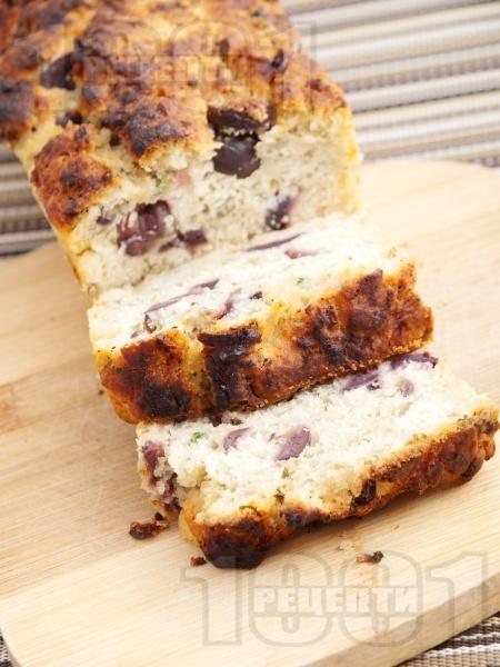 Домашен бирен хляб с маслини без мая, със сода - снимка на рецептата
